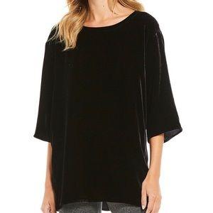 Eileen Fisher Velvet Silk Blend Tunic Box Top
